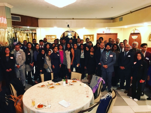 Attendees of the Inaugural South Asian & Indo-Caribbean Bar Association of Queens (SAICBA-Q) Fall Networking Event